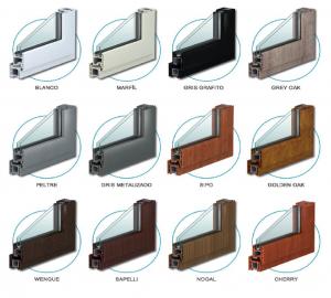 Aberturas de PVC: colores y texturas de las aberturas